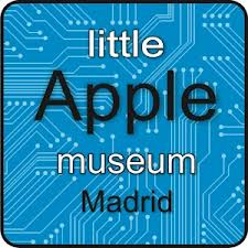 Logotipo de Little Apple Museum, museo Apple en Madrid