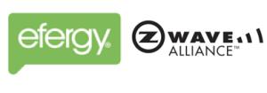 Logotipos de Efergy y de la Zwave Alliance